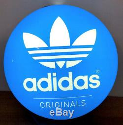 Super Rare Adidas Originals Logo Store Sign Light Lamp Vintage Retro Trefoil