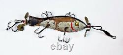 Super Rare F. A. Pardee 5 Hook Underwater Minnow Made In OH Circa 1902