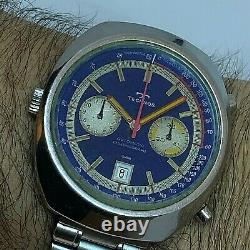 Super Rare Technos Montreal Manufactured By Heuer Automatic Chronograph Cal12