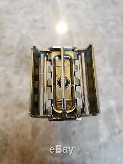 Super Rare Vintage 1960 F4 Gillette Fatboy Bottom Dial DE Safety Razor