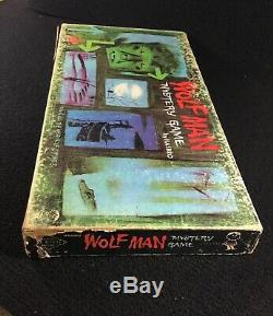 Super Rare Vintage 1963 Hasbro Wolfman Mystery Game Classic Universal Monsters
