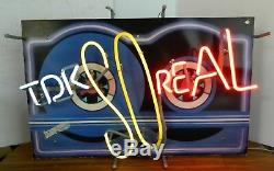 Super Rare Vintage 1980s TDK Cassette Tape Neon Advertising Sign, So Real