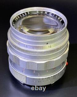 Super Rare Vintage Leica Summilux-M 50mm f/1.4 Aspherical Lens Silver with Hood