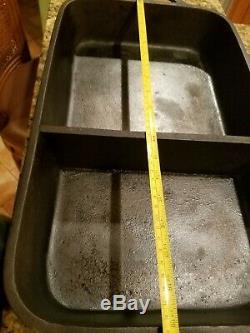 Super Rare Vintage Lodge Cast Iron Divided Fish Fryer