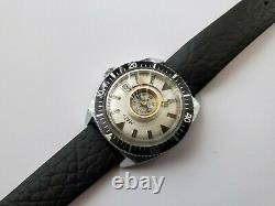 Super Rare Vintage Maty French Divers Mens Watch With Compass Antichoc Movement