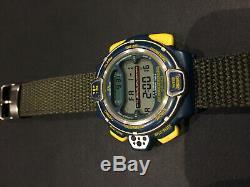 Super Rare Vintage SEIKO Digital Watch SKI THERMO S820-6000 Rotary Dial LCD