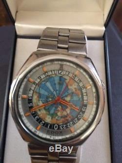 Super rare vintage Edox Geoscope World Timer GMT 100/. Genuine