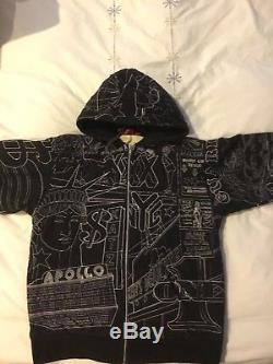Supreme Vintage Embroidered New York Theme Hoodie Size LG. Super Rare Item