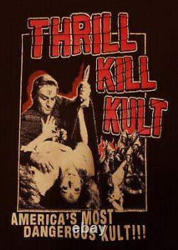 THRILL KILL KULT Baby Doll Shirt L Industrial 90s Goth Ministry Vintage RARE