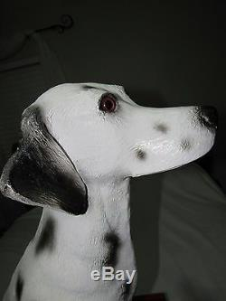 VINTAGE 32 BUDWEISER DALMATIAN DOG sparky STATUE DISPLAY SUPER RARE NICE SHAPE