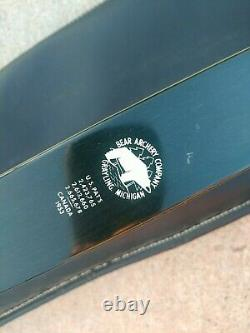 VINTAGE BEAR SUPER KODIAK RARE 60 48# RECURVE ARCHERY BOW 9Z815 with Soft Case