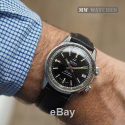 VINTAGE ENICAR SHERPA Super Divette rare vintage dive watch