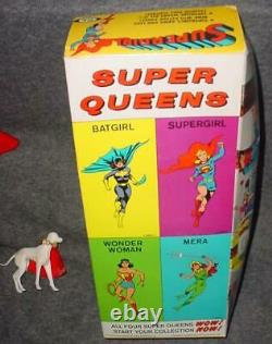VINTAGE IDEAL CAPTAIN ACTION FEMALE COUNTERPART SUPER QUEEN SUPERGIRL WithBOX RARE