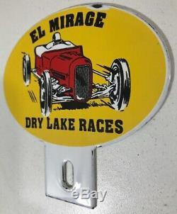 VINTAGE RARE EL MIRAGE license plate topper speed auto racing scta nhra original