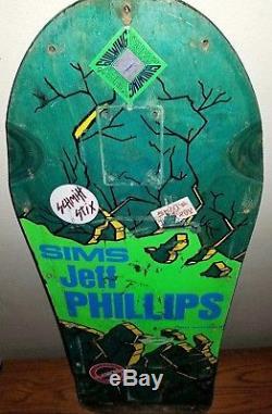 VINTAGE SUPER RARE 1ST SERIES 1980s SIMS JEFF PHILLIPS BREAK OUT SKATEBOARD DECK