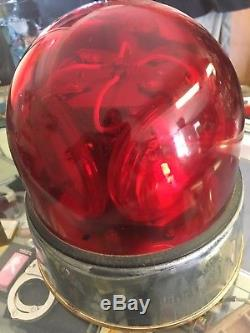 VTG RARE Federal Signal Super Beacon Ray Model 174 Oscillating Light GLASS DOME