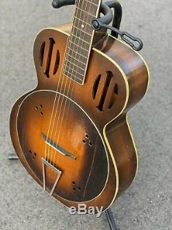 Vintage 1934 Kay Wood Amplifying Guitar Estate Find With Case Super Rare