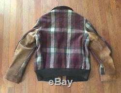 Vintage 1940s Sears Hercules Horsehide Leather Wool Two Tone Jacket Super RARE