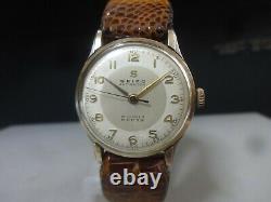 Vintage 1954 SEIKO mechanical watch SUPER 15J 14KGF + SS Antishock Rare dial