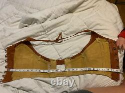 Vintage 1970s Leather Crop Top Halter Boho Hippie Festival 70s Size Medium rare