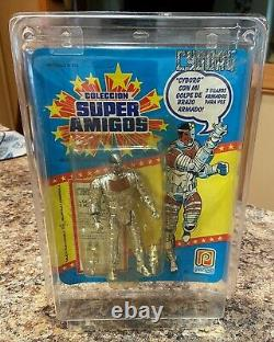 Vintage 1989 Kenner Super Powers Pacipa Cyborg-Rare with Protective Plastic Case