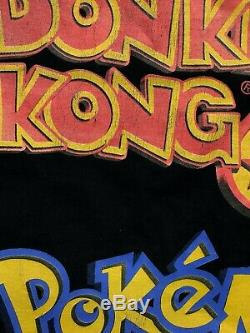Vintage 90s Super Rare Nintendo 64 Game Boy Color Pokemon Donkey Kong T-shirt