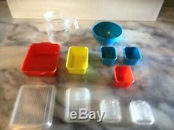 Vintage Barbie Banner Toys Teen Doll 11 Pc Pyrex Ware Plastic Dishes SUPER RARE