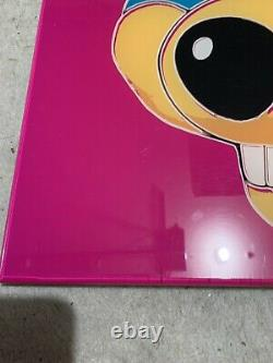 Vintage Chuck e Cheese acrylic poster Super Rare One Of A Kind Andy Warhol Pink