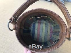 Vintage Coach 60s Bonnie Cashin Mahogany Brown Bucket Feed Bag Purse Super Rare
