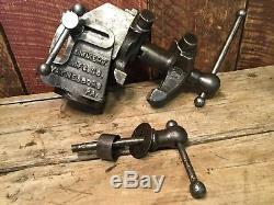 Vintage Emmert Machinists Vise SUPER RARE 1903 Model 6a 3 Jaws Blacksmith Vise
