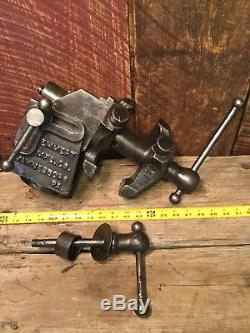 Vintage Emmert Machinists Vise SUPER RARE 1903 Model 6a 3 Jaws Blacksmith Vise