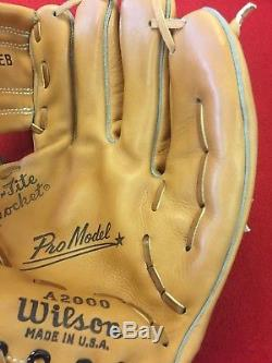 Vintage FIRST YEAR Wilson A2000 GLOVE Made USA Never been used SUPER RARE