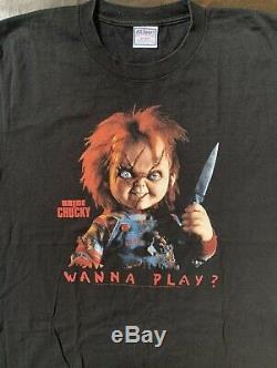 Vintage Horror Bride Of Chucky Adult Shirt! Size L! Super Rare! U. S. Seller