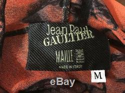 Vintage Jean Paul Gaultier Mesh Sheer Faces Hooded Top Shirt S M Rare