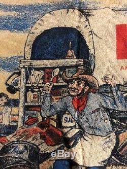 Vintage Levis T Shirt 70s Super Rare Levi Big E Indigo Western Scene