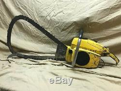 Vintage Mcculloch SUPER LG-2 gear drive BOW Chainsaw RARE only made for 2 months