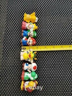 Vintage Nintendo Super Mario Kart Finger Puppet Figures Rare LOT 8 COMPLETE