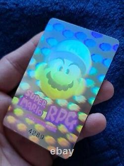 Vintage Nintendo Super Mario RPG Member Holographic Card Rare Promo Square #4289