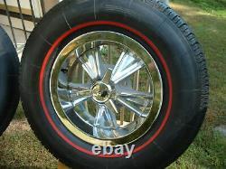 Vintage Original Hurst Mag Wheel Spinner Center Cap Redline Tire GTO Lemans 14x6