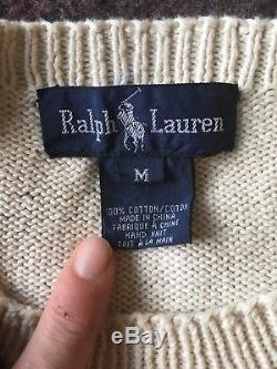 Vintage POLO Ralph Lauren Polo Bear Super Rare French Bear Sweater Size M