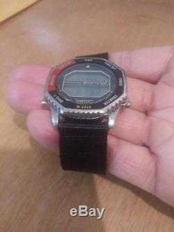 Vintage Rare 1983 Seiko A829-6029 NASA Digital LCD Mens Watch Super Nice