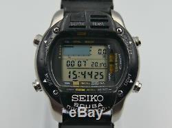 Vintage Seiko M796-5A00 200m Dive Computer Scuba Diver's Digital Super Rare