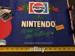 Vintage Super Nintendo Store Display/Pepsi Christmas/ Mario /1980s-1990s- RARE