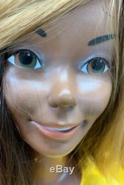 Vintage Super Star Christie Fashion Face Mattel 1976 RARE HTF