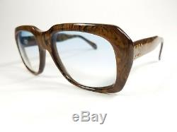 Vintage Ultra Goliath 1 Sunglasses SAMPLE WOODGRAIN SUPER RARE size 58-20