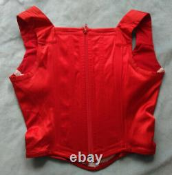 Vintage Vivienne Westwood corset red satin with classic orb size 42 very rare