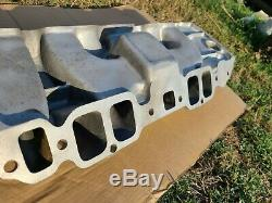 Vintage Weiand SAY WHY-AND Big Block Chevy Dual Quad Intake EXCELLENT! DAY2