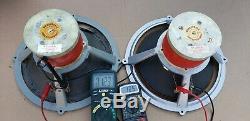 Vintage Wharfedale Super 12/CS/AL 12 Full Range Speakers Pair England Rare