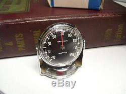 Vintage nos Dash Thermometer gauge chrome auto accessory gm street hot rod part
