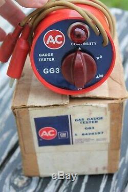 Vintage original Rare AC Gas Gauge Tester GG3 GM Guide auto Chevy